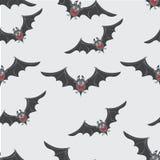 Pipistrelli con i farfallini rossi Halloween felice Fotografia Stock
