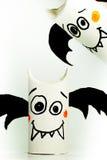 Pipistrelli di carta per Halloween Fotografia Stock Libera da Diritti