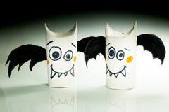 Pipistrelli di carta per Halloween Fotografia Stock