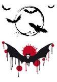 Pipistrelli di Halloween, insieme di vettore Immagine Stock