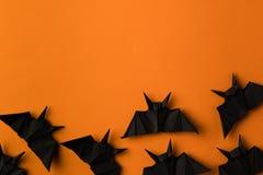 Pipistrelli di origami per Halloween Fotografia Stock