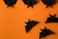 Pipistrelli di origami per Halloween Fotografie Stock