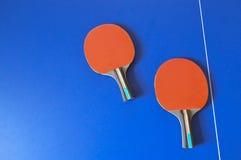 Pipistrelli di ping-pong immagine stock