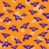 Pipistrelli e carta da parati della luna Immagine Stock Libera da Diritti