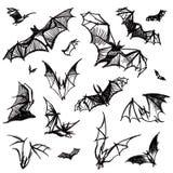 Pipistrelli isolati vettore Immagini Stock