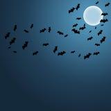 Pipistrelli nel fondo del cielo nel vettore illustrazione vettoriale