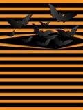 Pipistrelli spaventosi del fondo di Halloween di vettore arancio Fotografia Stock