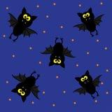Pipistrelli svegli. Modello felice di Halloween. Immagini Stock