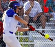 Pipistrello della palla della donna di softball dei giochi del Canada Fotografie Stock