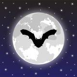 Pipistrello della siluetta Immagini Stock Libere da Diritti