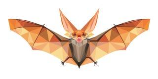 Pipistrello di notte nello stile poligonale illustrazione vettoriale