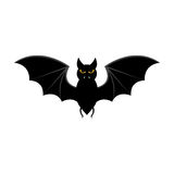 Pipistrello di volo di Halloween isolato su fondo bianco Immagine Stock