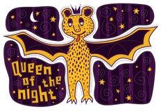 Pipistrello giallo della regina Fotografia Stock Libera da Diritti