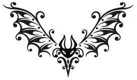 Pipistrello, Halloween, tribale Illustrazione Vettoriale