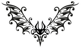 Pipistrello, Halloween, tribale Fotografia Stock