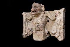 Pipistrello maya dell'uccisore della statua Fotografie Stock Libere da Diritti