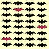 Pipistrello nero spaventoso per Halloween fotografia stock