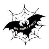 Pipistrello sulla ragnatela Su fondo bianco Illustrazione di vettore Illustrazione di Stock