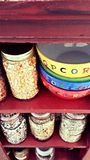 Pipoca e feijões Fotos de Stock