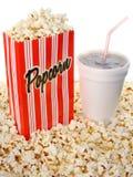 Pipoca e soda Imagem de Stock Royalty Free
