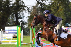 Pippa Funnell show jumping Royalty Free Stock Photography