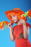Pippi Longstocking Royalty Free Stock Photo