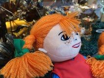Pippi Longstocking. Doll Royalty Free Stock Photography