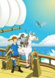 Pippi Longstocking in het Zuidenoverzees Royalty-vrije Stock Foto's