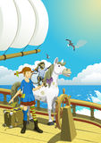 Pippi Longstocking in the South Seas royalty free illustration