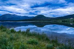 Pippin jezioro w Alaska Zdjęcia Stock