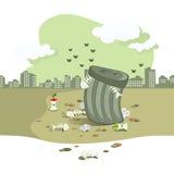 Piqûre d'ordures illustration stock