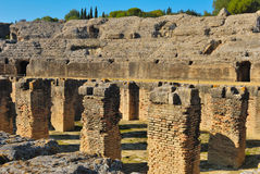 Piqûre de l'amphitheatre d'Italica Images stock
