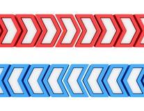 Piqûre-lignes des flèches illustration de vecteur