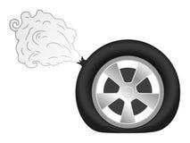 Piqûre de pneu illustration stock