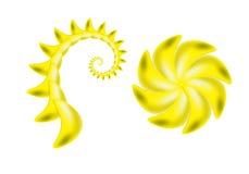Piqûre et fleur de scorpion illustration de vecteur