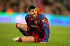 Piqué de Gerard de Barcelone Photos stock