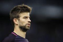 Piqué de Gerard de FC Barcelona imagens de stock