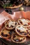 Pique las empanadas para la Navidad Foto de archivo libre de regalías