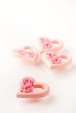 Pique los corazones de la tarjeta del día de San Valentín Fotografía de archivo