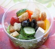 Pique-nique avec de la salade de fraîcheur de mélange Images libres de droits