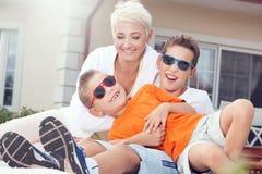 Pique-nique de famille Photos libres de droits