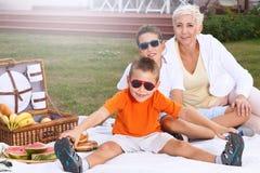 Pique-nique de famille Photo stock