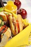 Pique-nique de roulis de salade Photographie stock