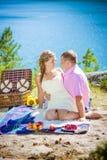 Pique-nique romantique Photographie stock libre de droits