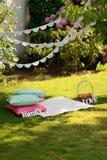 Pique-nique sur la pelouse Photographie stock libre de droits
