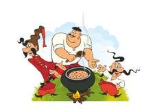 Pique-nique ukrainien de Cosaques illustration stock