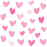 Pique o patte sem emenda dos lovehearts ilustração stock