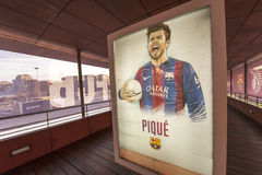 Pique Portrait. Gerard Pique portrait at Camp Nou stadium. Barcelona, Spain Royalty Free Stock Images