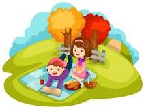 Piquenique ilustração royalty free
