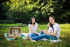 Piquenique da família em um parque foto de stock royalty free